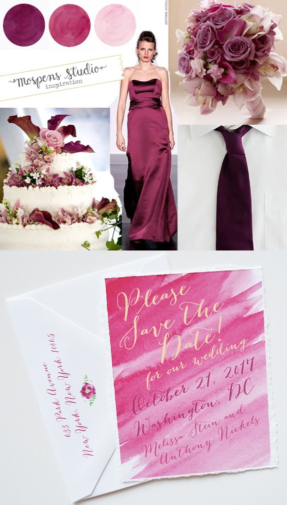 Sangria Wine Mauve Dusty Pink Wedding Colors