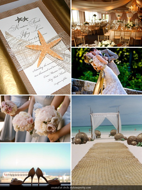 beach wedding ideas and inspiration board