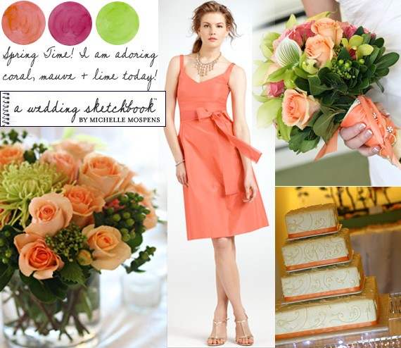 coral-mauve-lime-wedding-colors
