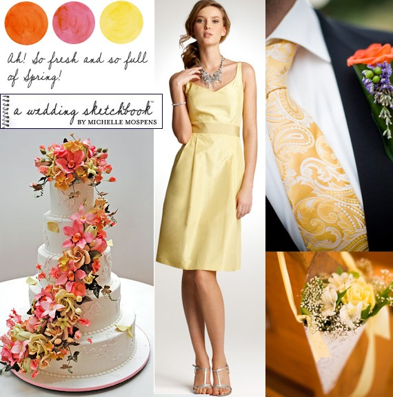 yellow-coral-orange-wedding-colors