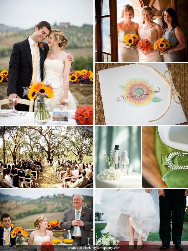 Sunflower wedding ideas mospens studio elegant custom sunflower wedding ideas junglespirit Gallery