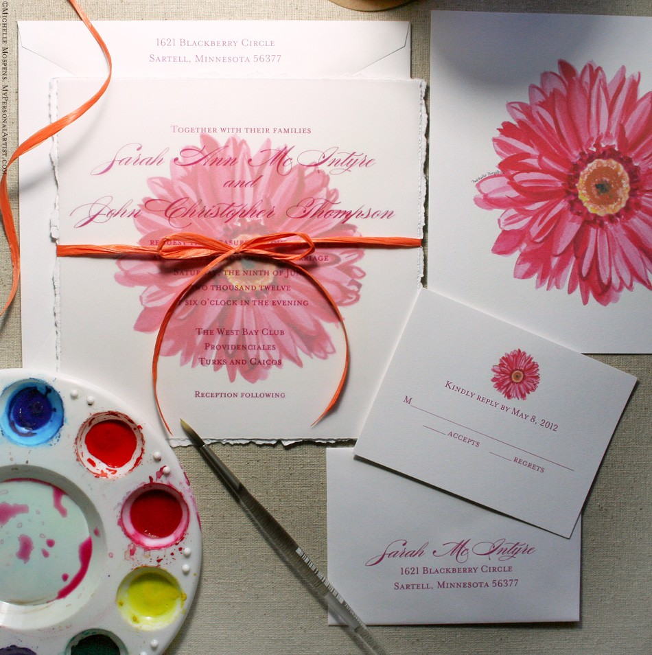 gerbera-daisy-wedding-invitations