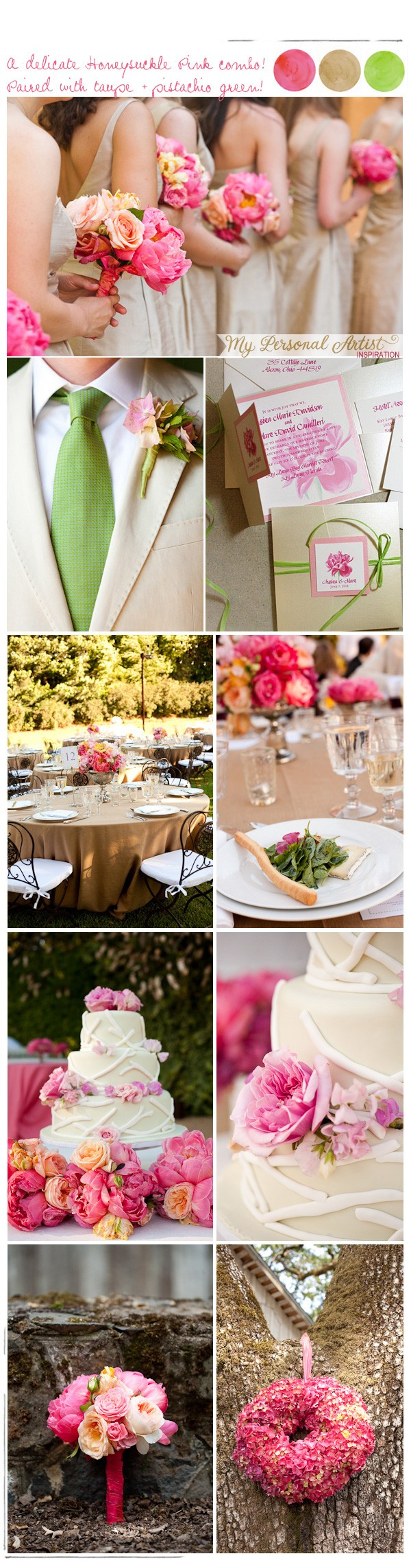 Pink wedding inspiration | www.mospensstudio.com