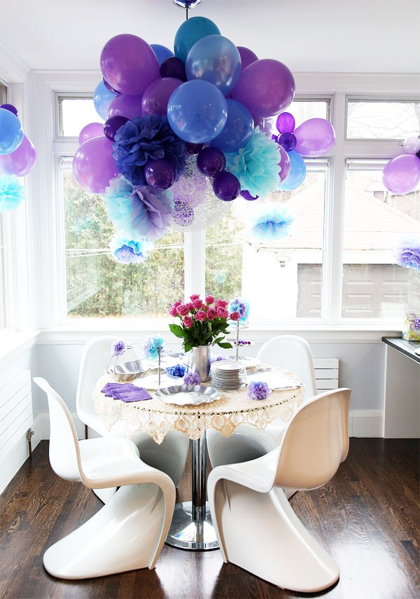 Blue and Purple Party Decoration Ideas