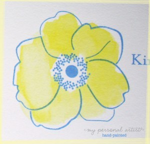 hand painted watercolor flower wedding invitations