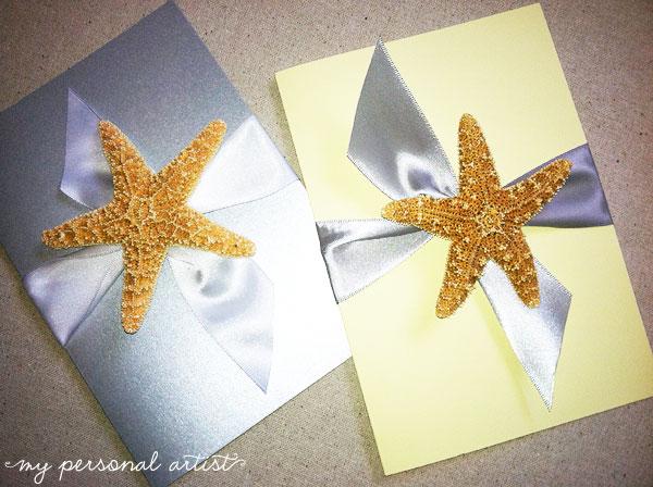 starfish wedding invitations - Starfish Wedding Invitations