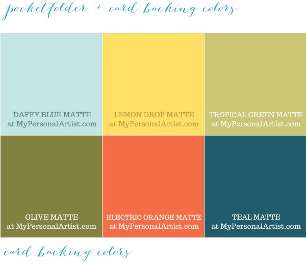 Tropical Wedding Color Swatches