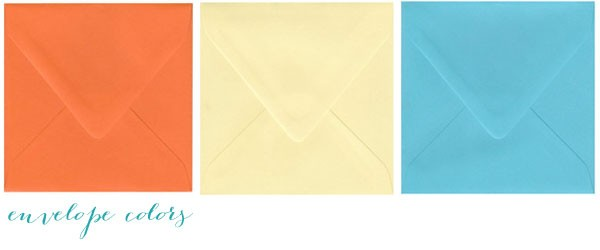 tropical wedding invitation envelopes