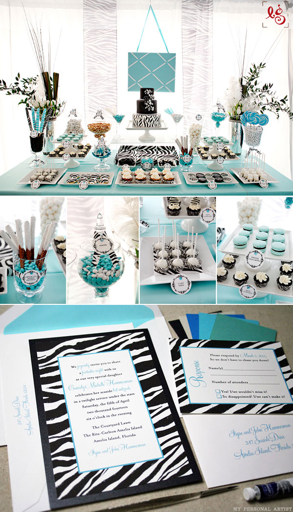 Unique zebra invitations and party ideas at MyPersonalArtist comUnique Party Invitations