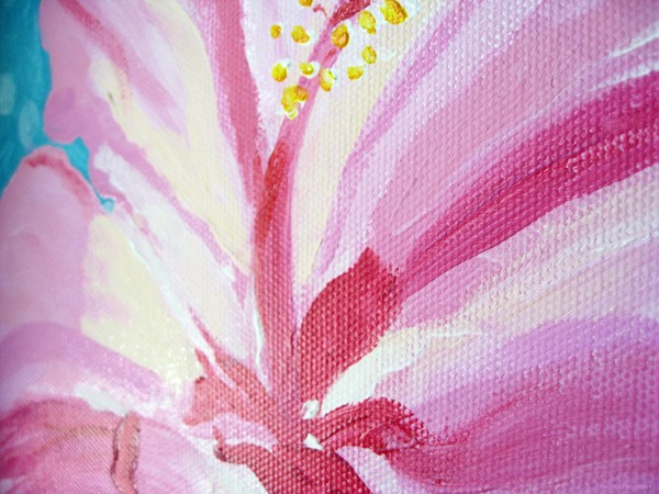 Original art painting flower painting by fine artist Michelle Mospens.