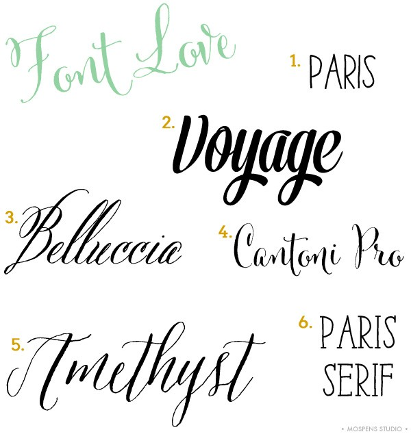 Font Love Series #1 / Mospens Studio