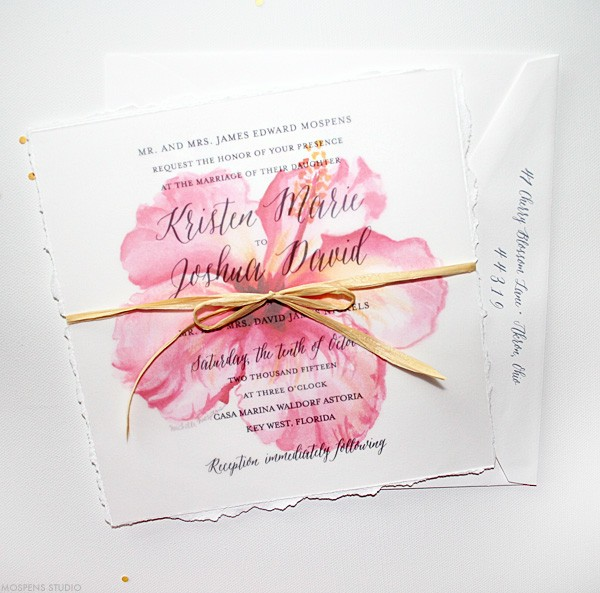 Florida Beach Wedding Invitations