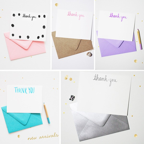 Chic and Unique Thank You Cards | Mospens Studio