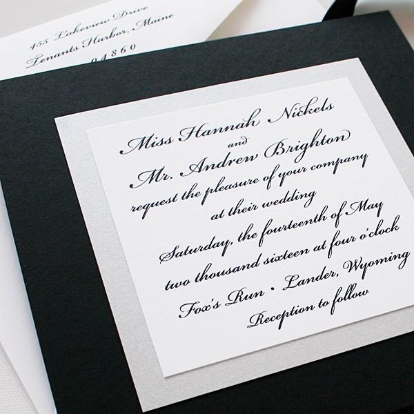 Elegant Black and White Wedding Invitations – Elegant Black and White Wedding Invitations