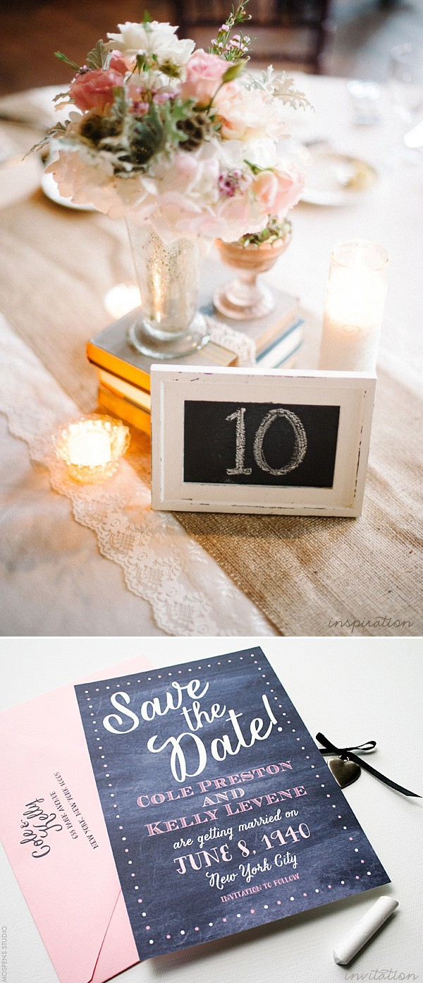 Vintage chalkboard wedding inspiration | www.mospensstudio.com