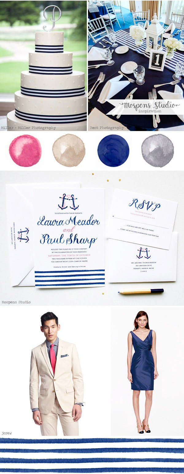Nautical wedding ideas | Mospens Studio