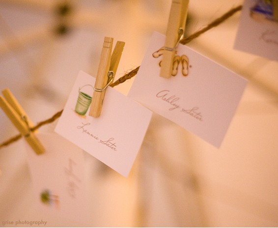 How to write place cards for a wedding reception - www.mospensstudio.com