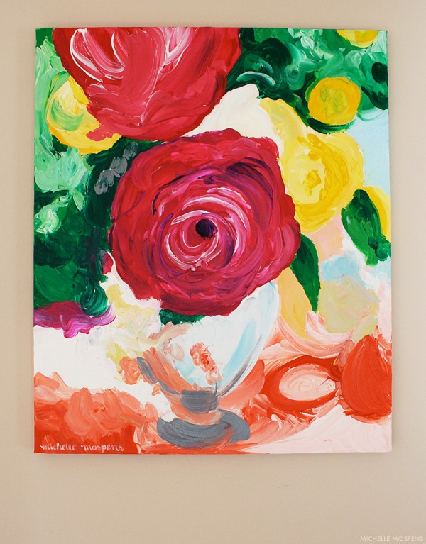 Michelle Mospens fine art rose painting