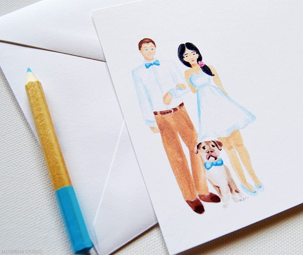 Custom note cards with family  | www.mospensstudio.com