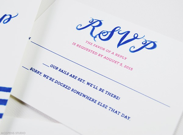 Nautical wedding stationery with anchors | www.mospensstudio