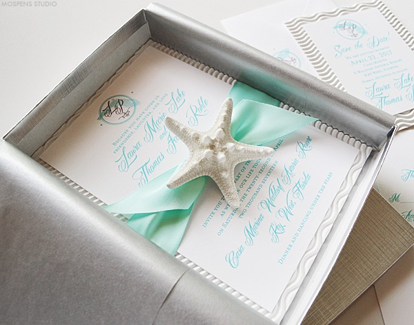 Florida beach wedding invitations  | www.mospensstudio.com
