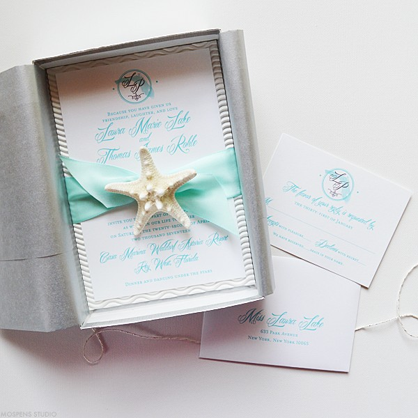 Florida destination wedding invitations | www.mospensstudio.com