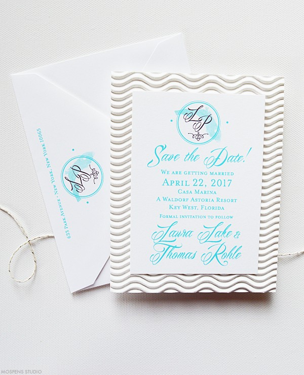 Florida beach wedding save the dates | www.mospensstudio.com