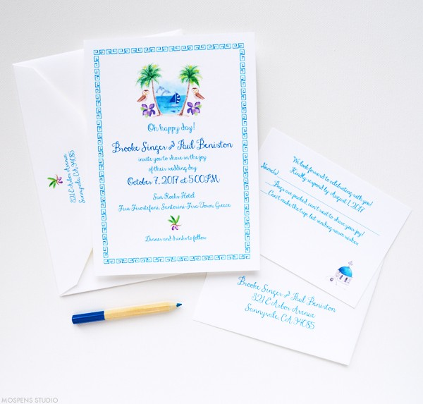 Wedding invitations Greece wedding | www.mospensstudio.com