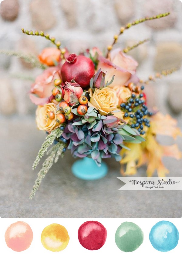 Fall wedding color inspiration and ideas | www.mospensstudio.com