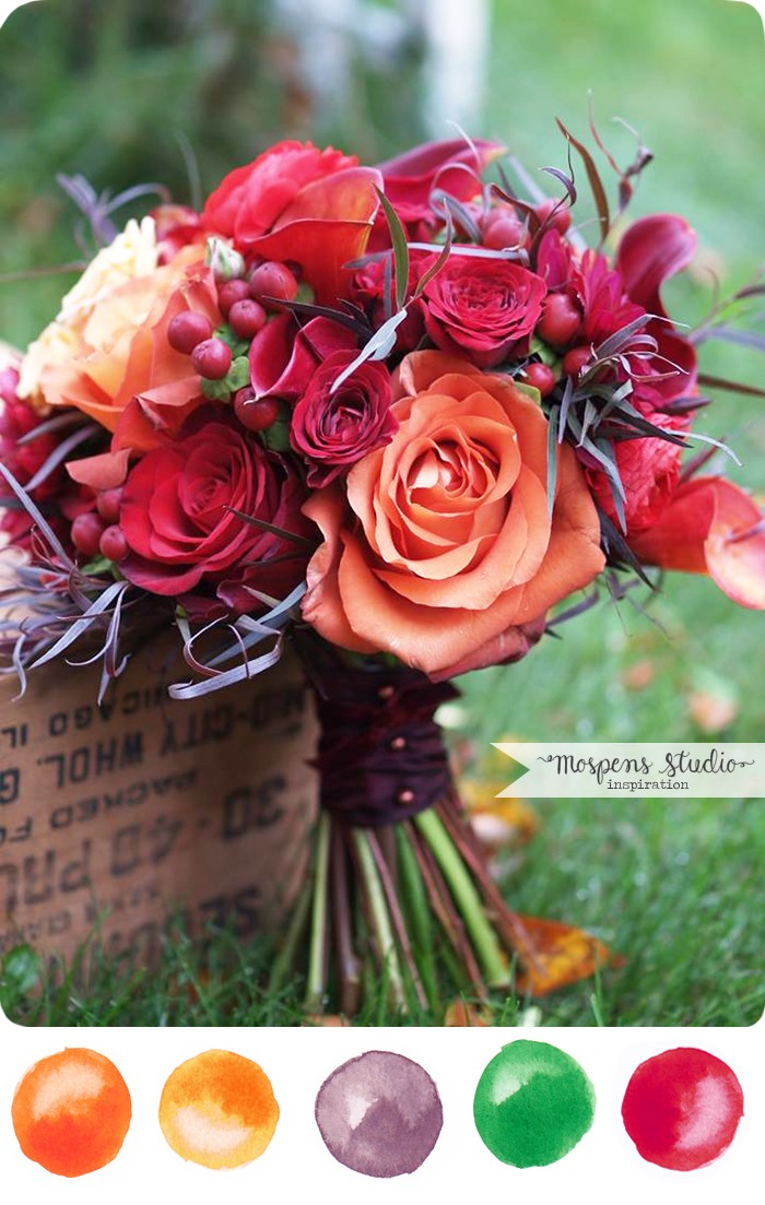 Fall wedding theme color inspiration | www.mospensstudio.com