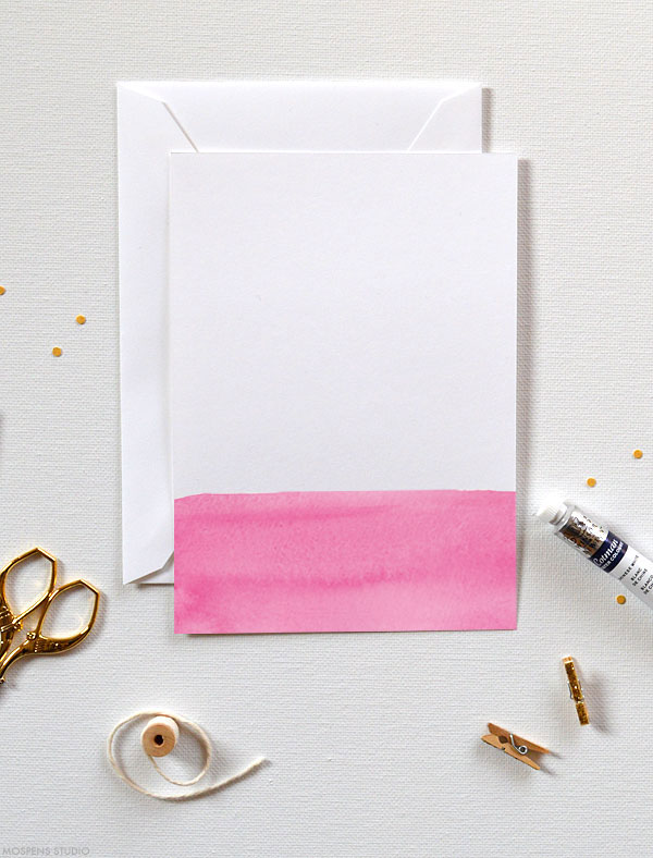 Fun & Modern! D.I.Y. dip dye watercolor invitation kits - www.mospensstudio.com