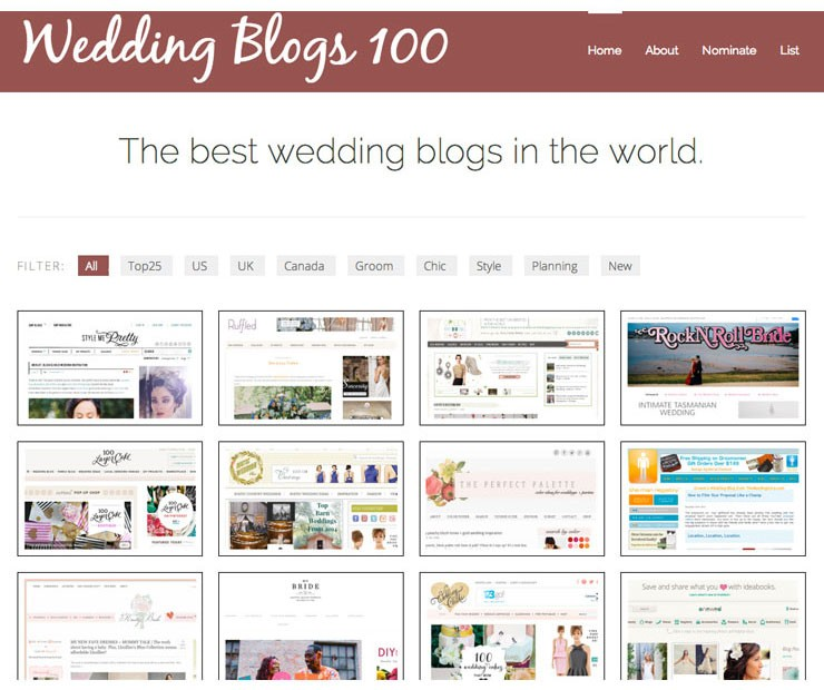 Top 100 Wedding Blogs - www.mospensstudio.com