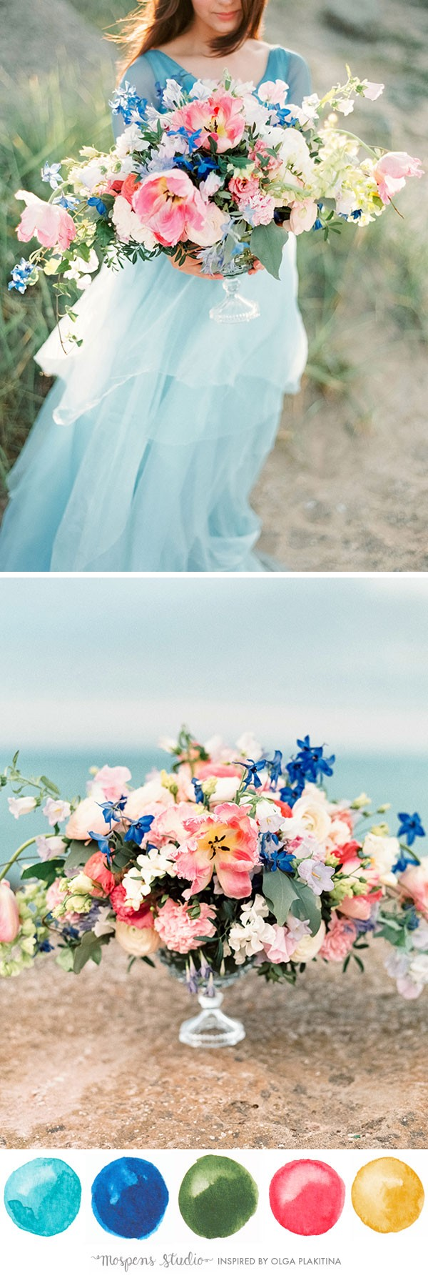 Tiffany Inspired Wedding Color Palette