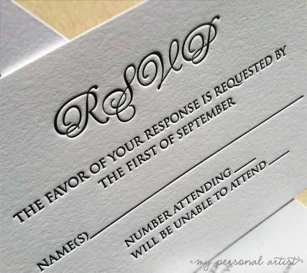 New letterpress wedding invitations custom invitations unique love their rsvp card reheart Choice Image