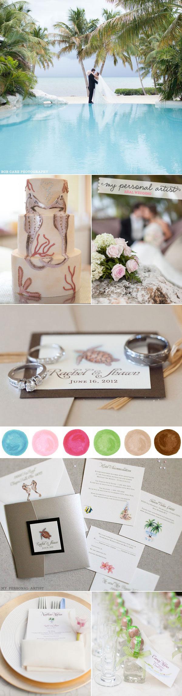 Elegant Beach Wedding Invitations Beach Wedding Ideas Mospens Studio Custom Wedding Invitations Stationery
