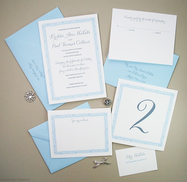 1920s-Inspired Wedding Invitations | Mospens Studio