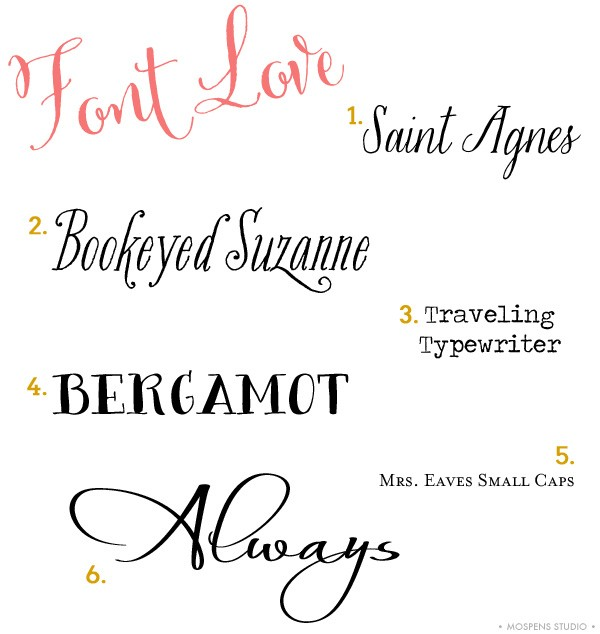 Font Love Series #2 / Mospens Studio