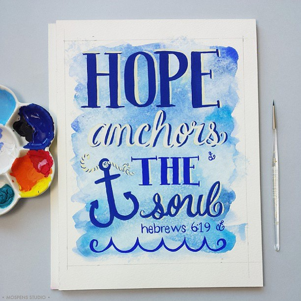 Hand-painted lettering inspirational poster art / Mospens Studio