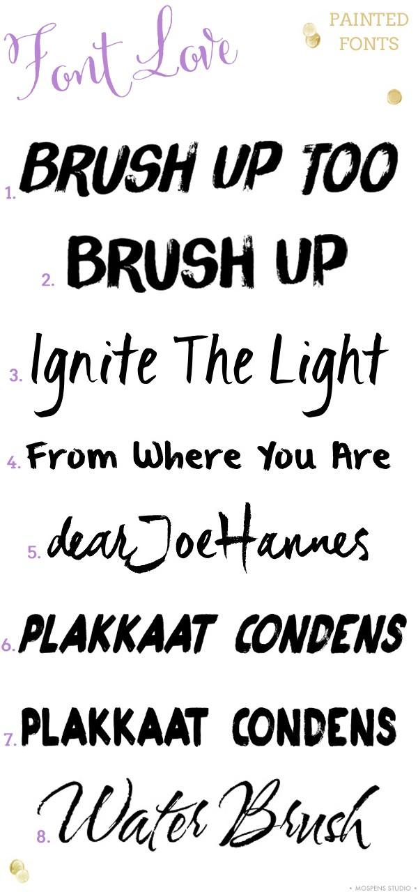 10 BEST Bold Handpainted Fonts   Mospens Studio