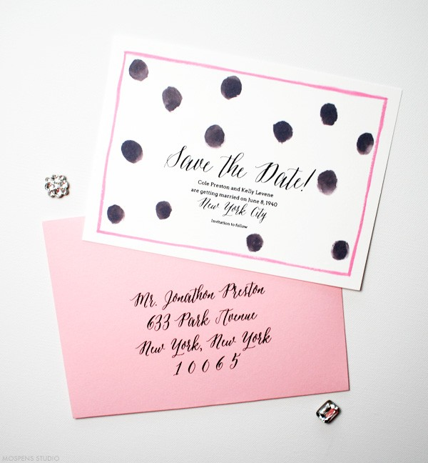 Save the Dates with Polka Dots | Mospens Studio