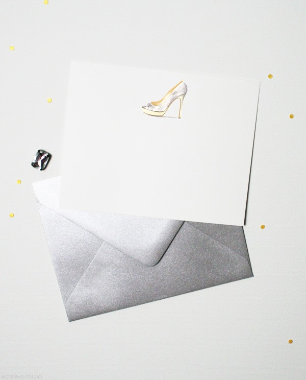 High Heel Note Cards by artist Michelle Mospens | Mospens Studio