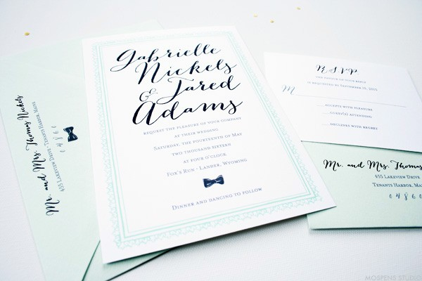 Mint To Be Vintage Wedding Invitations Mospens Studio Elegant