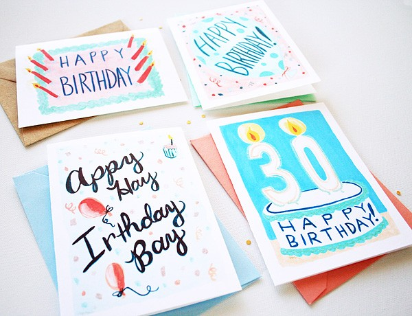 Fun illustrated birthday cards by artist Michelle Mospens