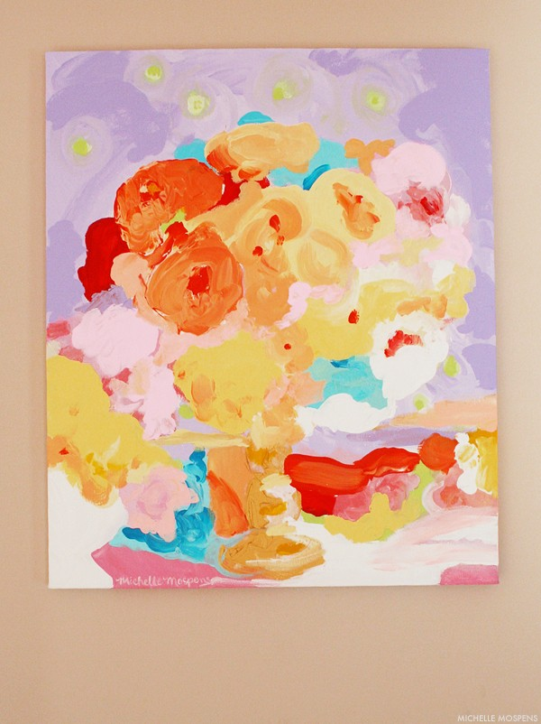 Michelle Mospens fine art abstract floral painting