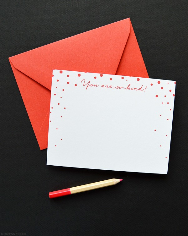 Christmas red winter thank you cards | www.mospensstudio.com