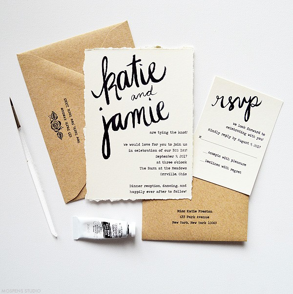 Vintage Wedding Invite: Vintage-Inspired Rustic Wedding Invitations