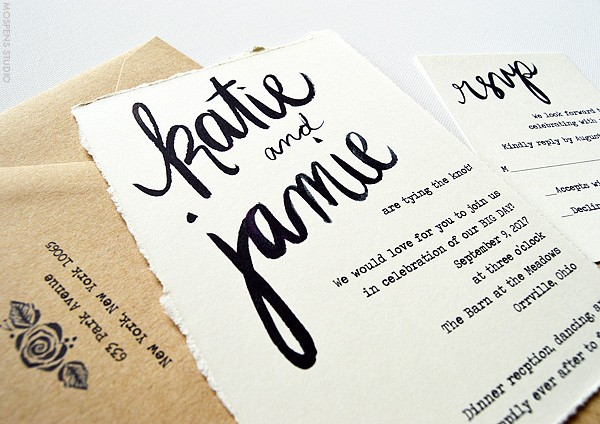 Fun Rustic and Vintage Wedding Invitations | www.mospensstudio.com