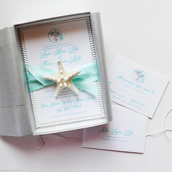Florida destination wedding invitations | www.mospensstudio.com