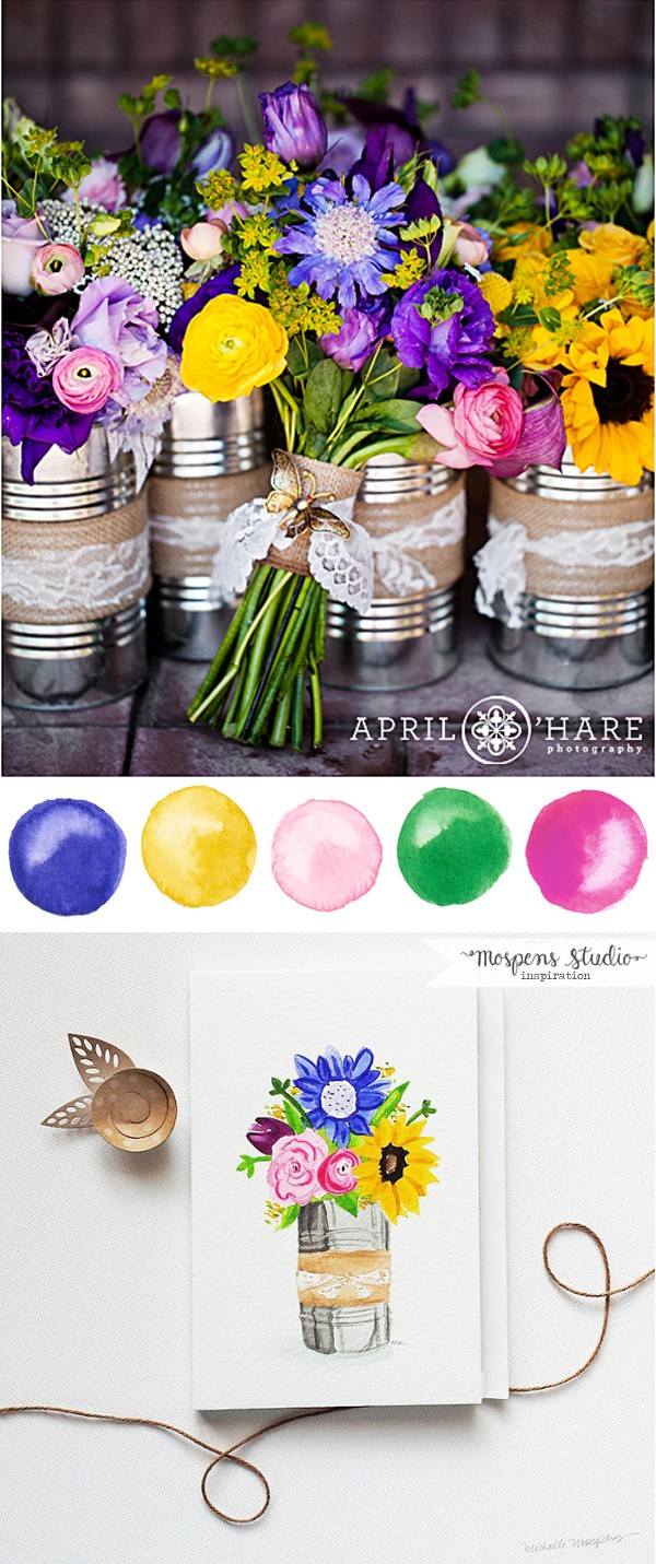Bright summer wedding colors | www.mospensstudio.com