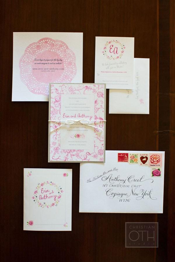 Real Wedding: Destination Wedding Custom Invitations for a wedding in Mexico - www.mospensstudio.com